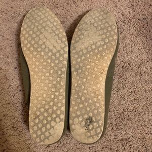 Toms Shoes - TOMS Women's Olive Green Canvas Slip on- Size 8.5